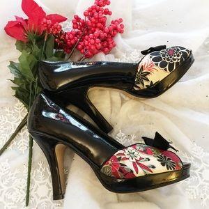 Madden girl prestige Floral peep toe heels